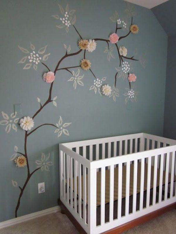 ideas para decorar una habitacin de beb o infantil con fores