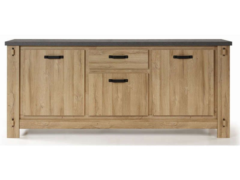 Simple buffet portes broceliande conforama with table for Table urano conforama