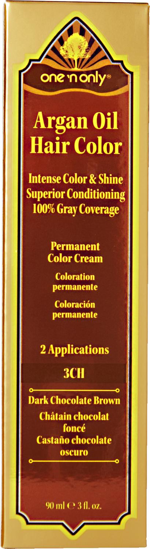 One N Only Argan Oil Hair Color 3ch Dark Chocolate Brown Hair Color Hair Color Chocolate Argan Oil Hair Color