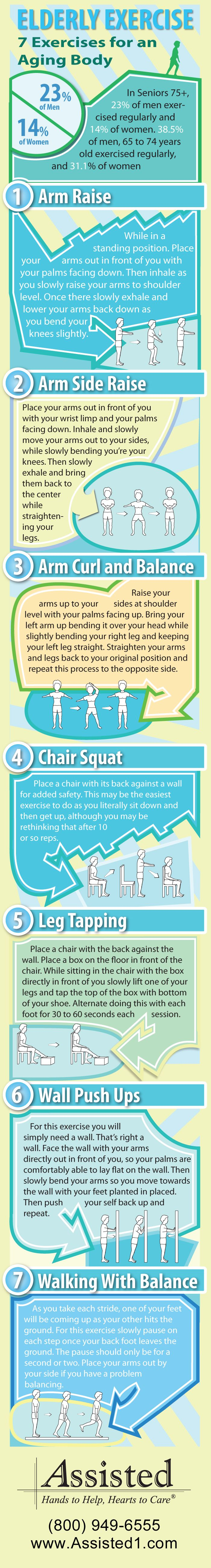 7 Elderly Exercises to get the Body Moving #ElderlyExercise #HomeHealthCare #AssistedHealthcare