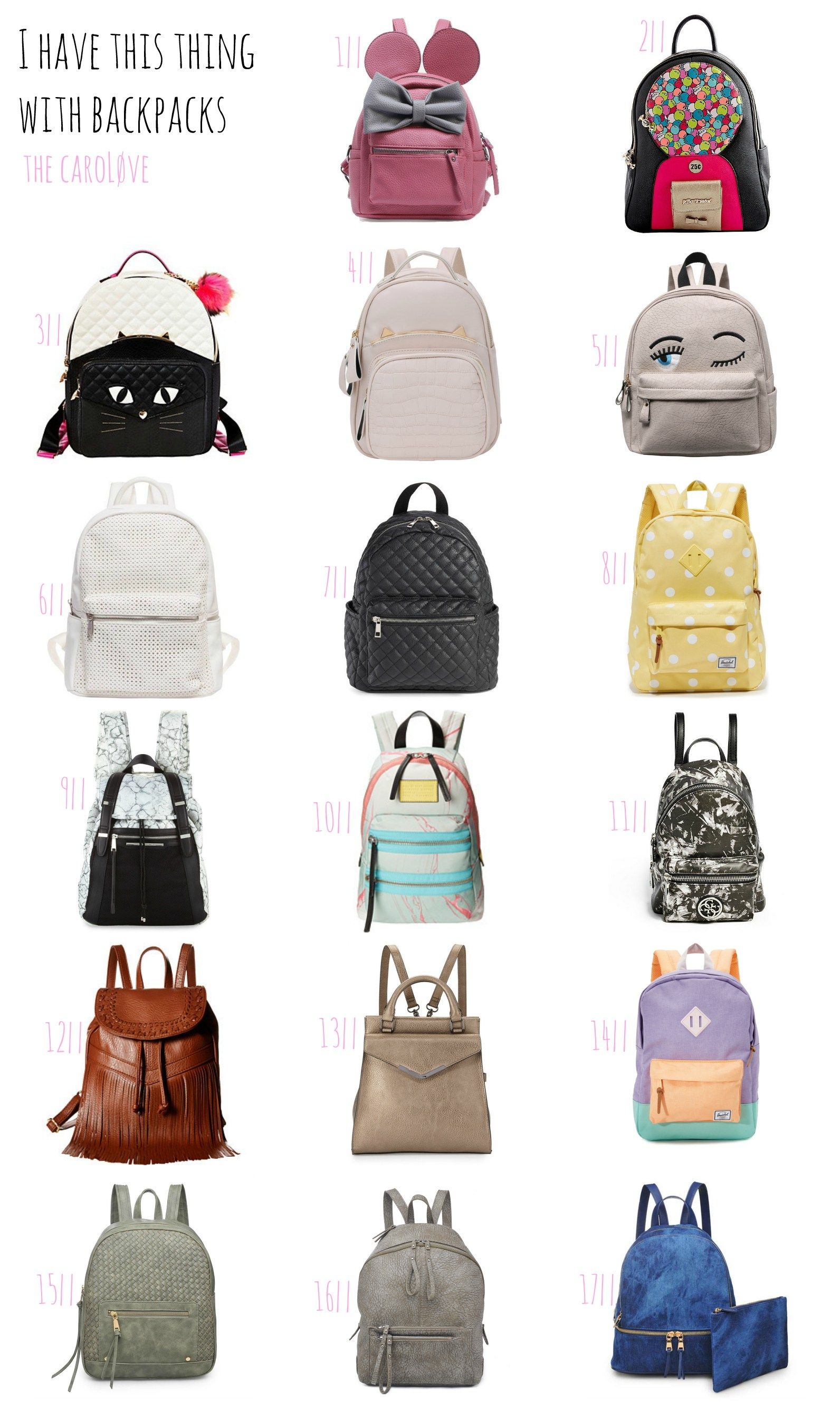 The CaroLøve I have this think with backpacks Stylish