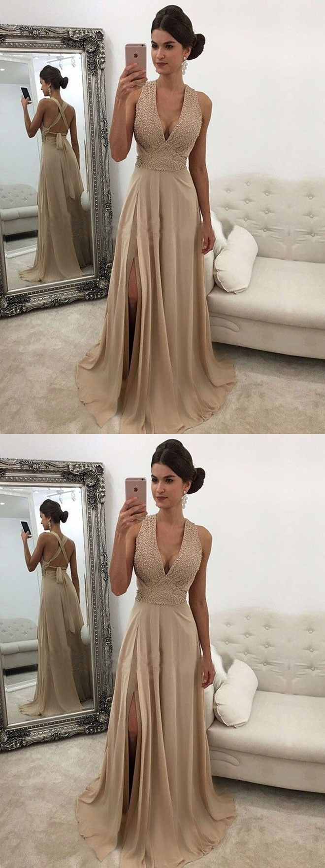 v neck prom dress modest simple cheap long prom dress vb