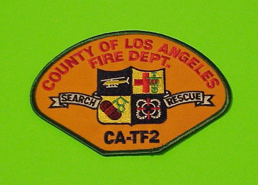 Los Angeles County Paramedic CA Fire Dept Patch California