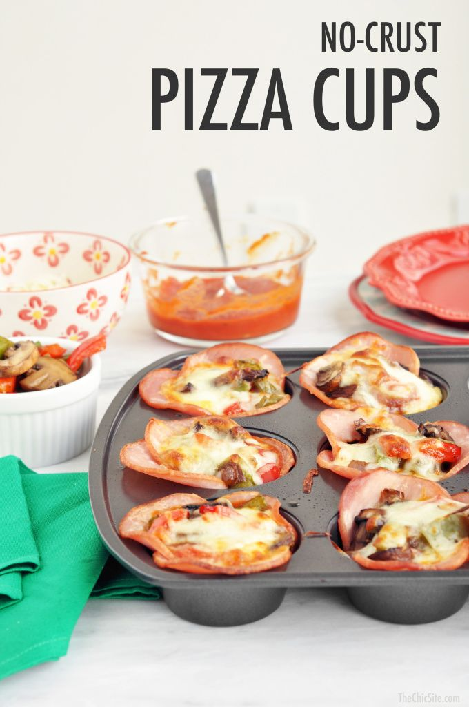 No Crust Pizza Cups Recipe Low Carb Pizza