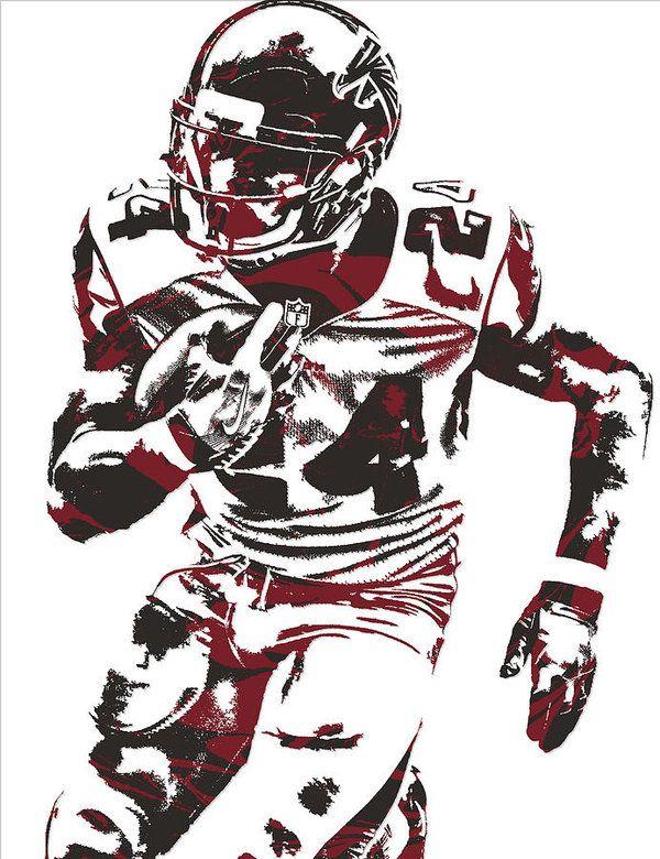 Devonta Freeman Atlanta Falcons Pixel Art 12 Art Print by