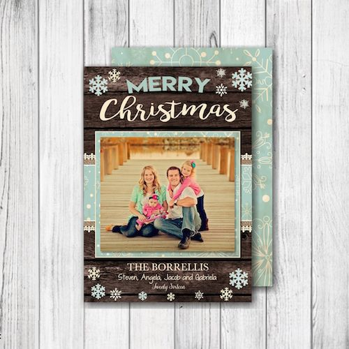 Country Christmas Photo Card u2013 Merry Christmas or Happy Holidays - christmas card layout