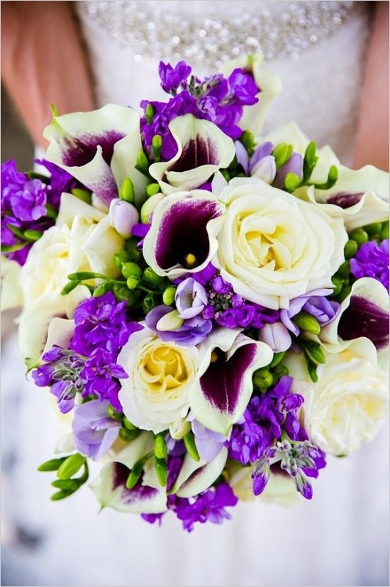 Regal Wedding In Royal Purple Wedding Flowers Purple Wedding Flowers Wedding Bouquets