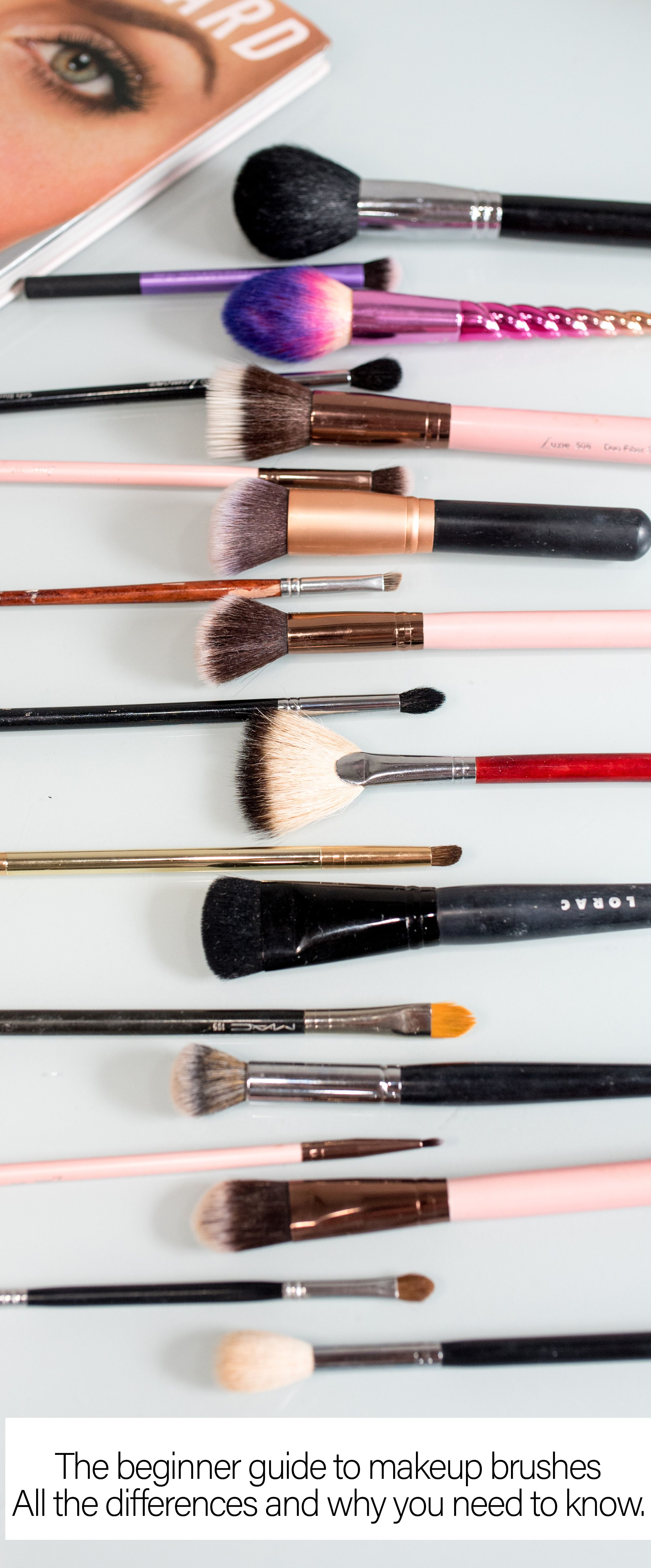 Beginner makeup brush guide... How are they different and