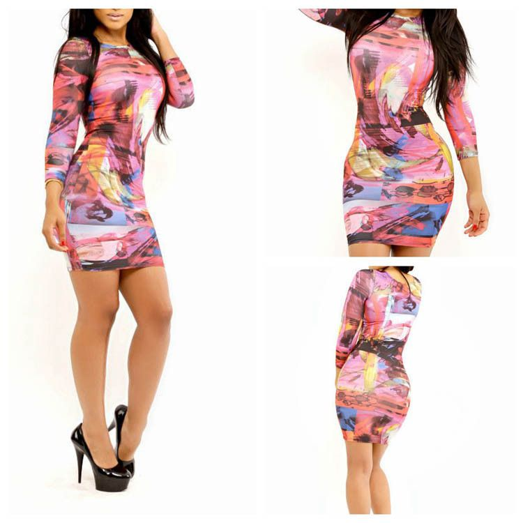 HOT SEXY NEW SUMMER WOMEN SEXY BANDAGE CLUBWEAR OUTFIT CUT OUT THE DONATELLA MINI SLIM BODYCON BACKLESS DRESSES