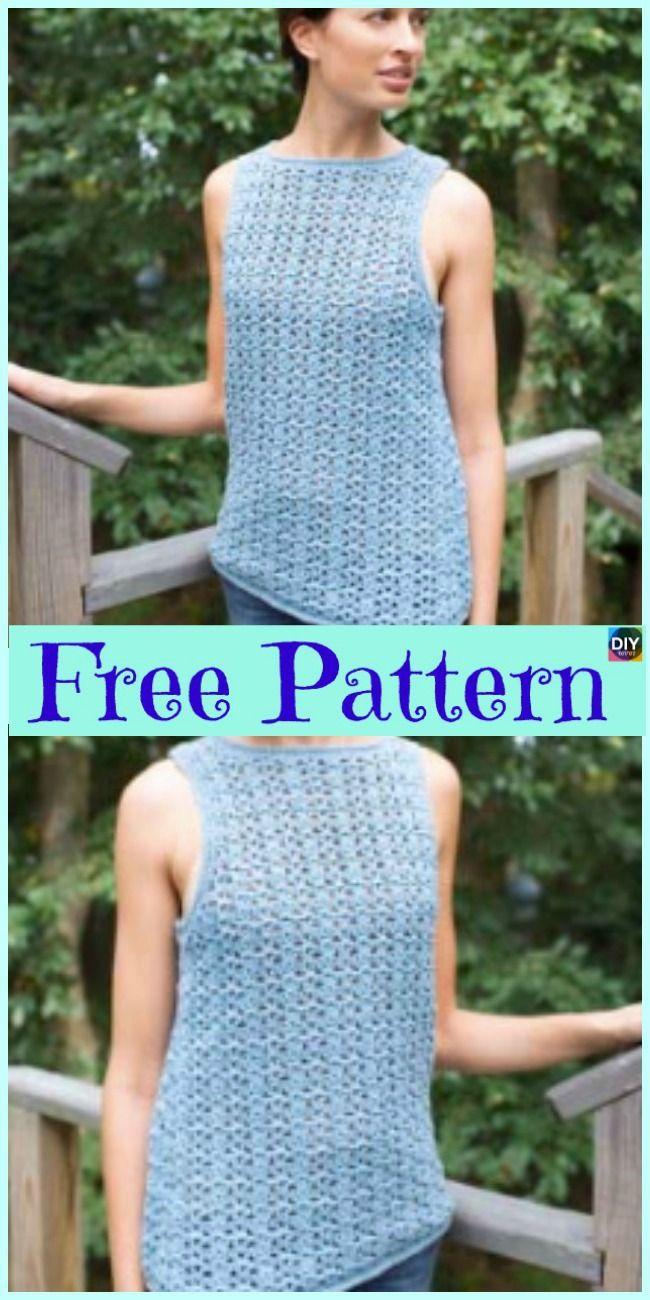 10 Beautiful Crochet Summer Tank Free Patterns