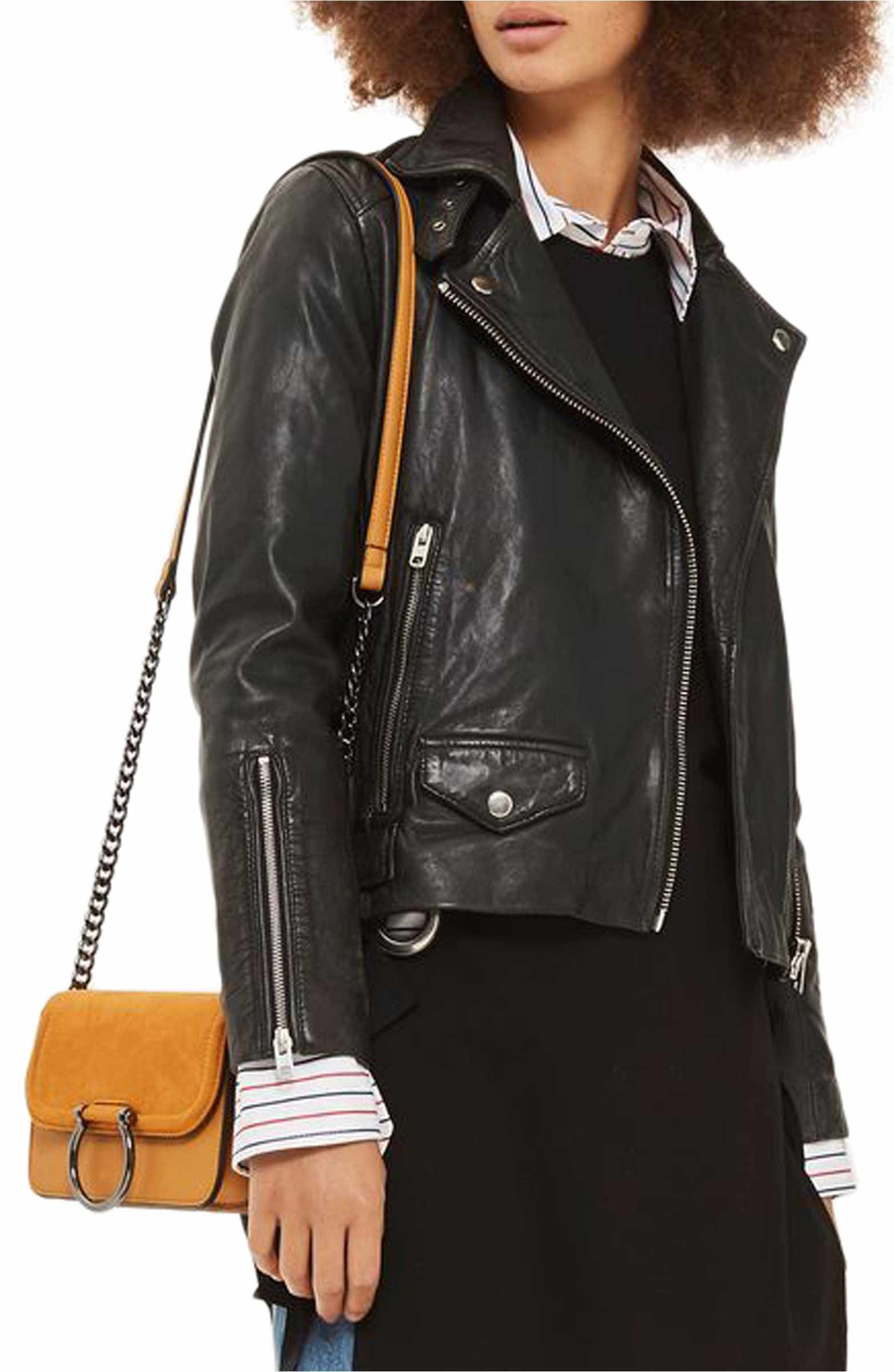 Lucky Leather Biker Jacket (With images) Fur