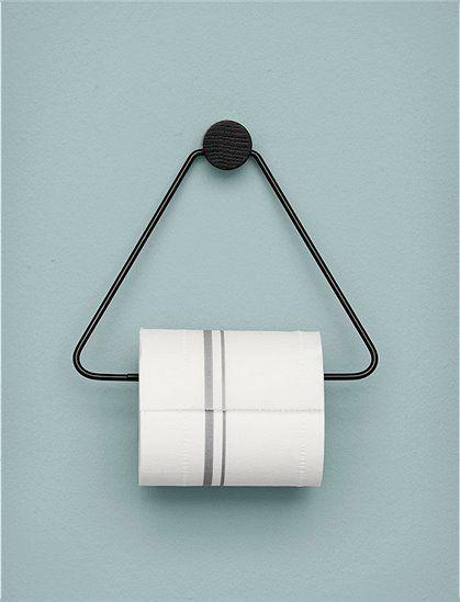 toilettenpapierhalter von ferm living triangelform. Black Bedroom Furniture Sets. Home Design Ideas