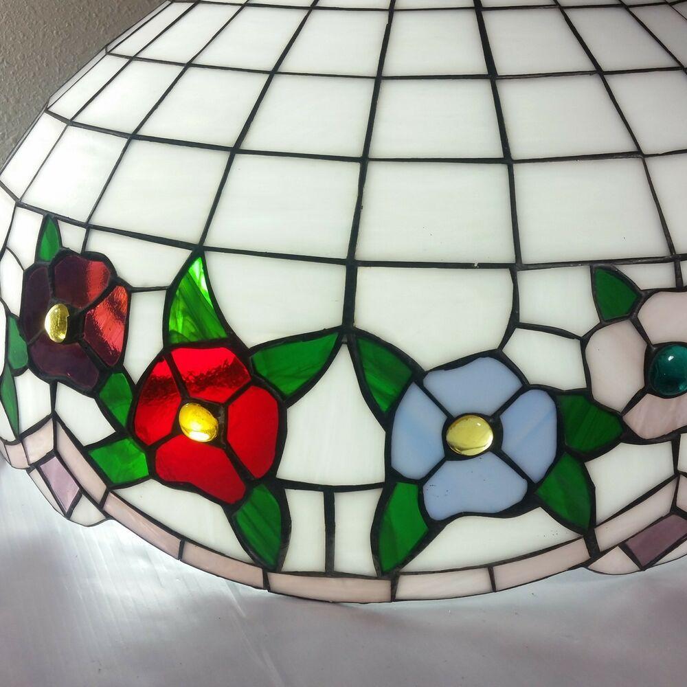 Tiffany Lamp Glynda Turley Reverse Painted Glass Hydrangea Mothers