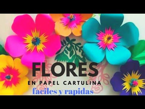 Como Hacer Flores En Cartulina Paso A Paso Super Faciles Flores De