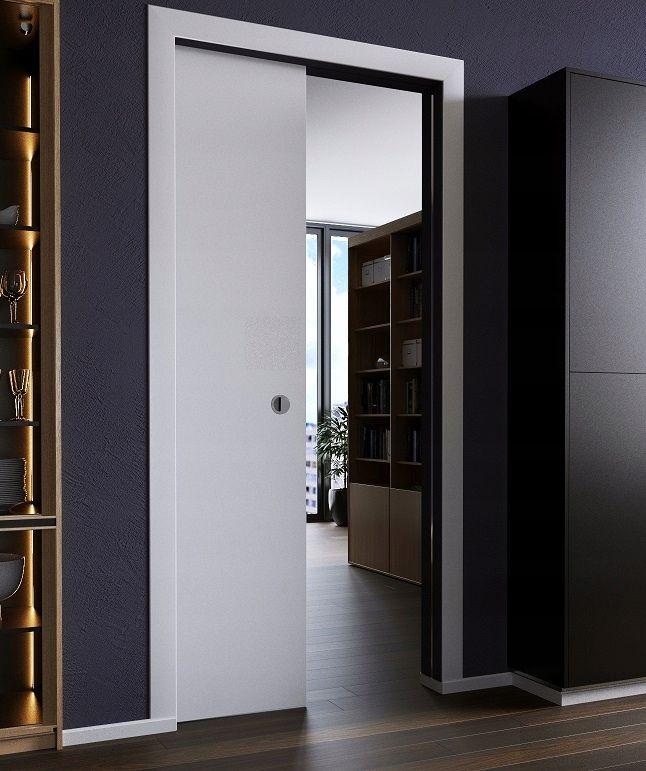 Drzwi Przesuwne W Kasecie Dre Białe Mat Samodomyk łazienka