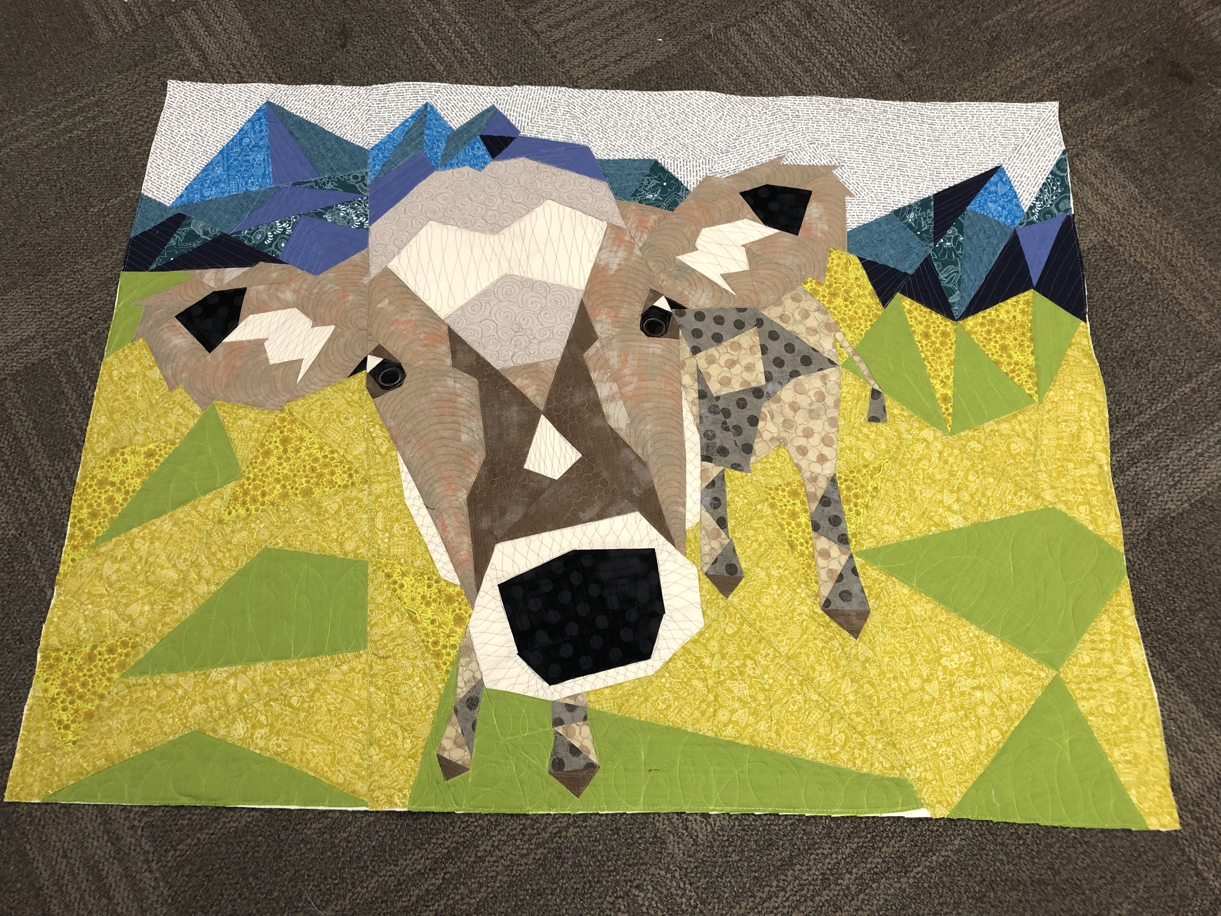 The Cow Abstractions Quilt Pattern Foundation Paper Piecing Project Violet Craft