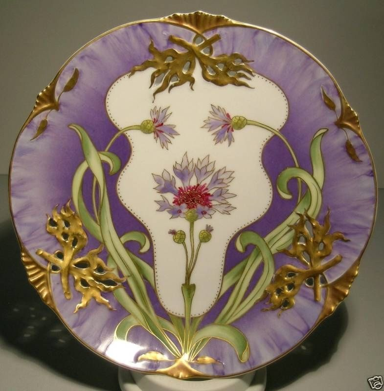 Nymphenburg Art Nouveau Plate | Collectors Weekly & Nymphenburg Art Nouveau Plate | Collectors Weekly | Art Deco ...