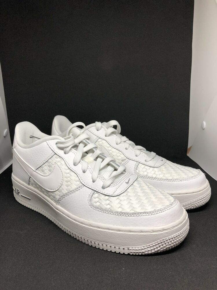17eb16026 Nike Air Force 1 LV8 Big Kids 820438-105 Summit White Woven Shoes Youth  Size 7Y | eBay