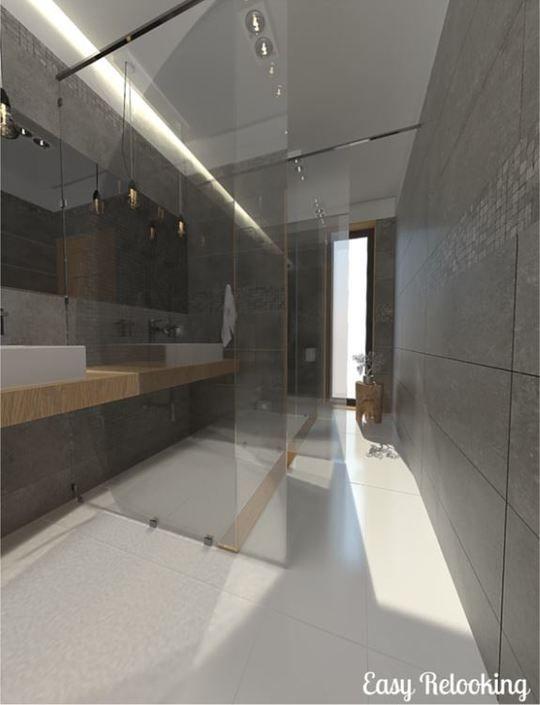 Bagno lungo e stretto doccia filo pavimento bathrooms - Bagno lungo 3 metri ...