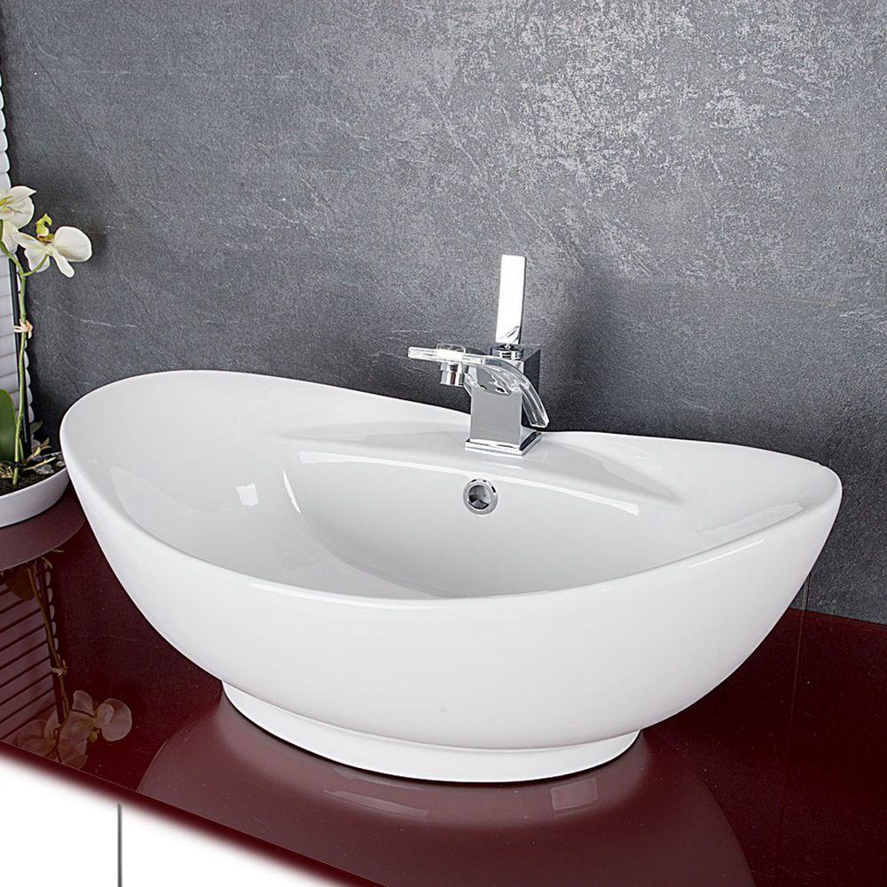 Großartig Keramik Waschbecken Sammlung Von Oval Waschschale Aufsatzwaschbecken Waschtisch Badezimmer727 | Moderné