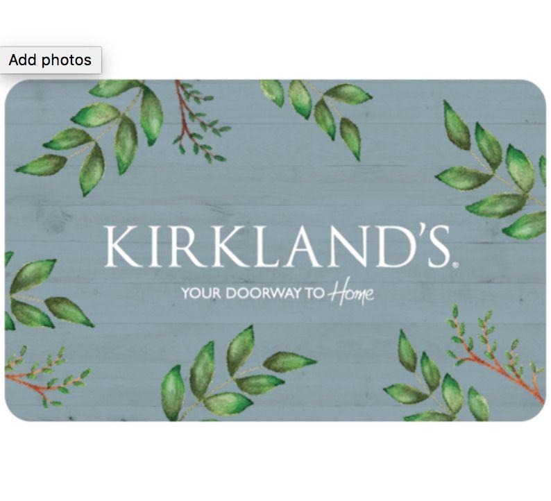 Kirklands gift card 25 50 or 100 email delivery
