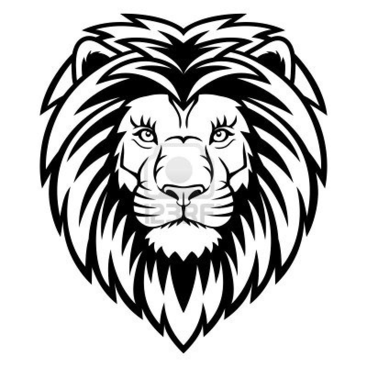 Löwenkopf Zeichnung