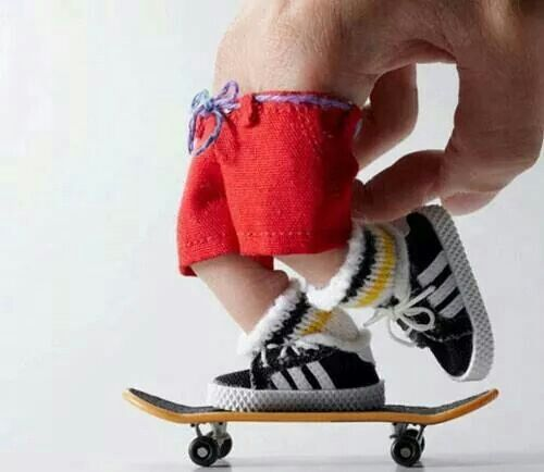 4a0501718c skateboard #fingers #baby clothes #creativity | Be creative | Finger ...
