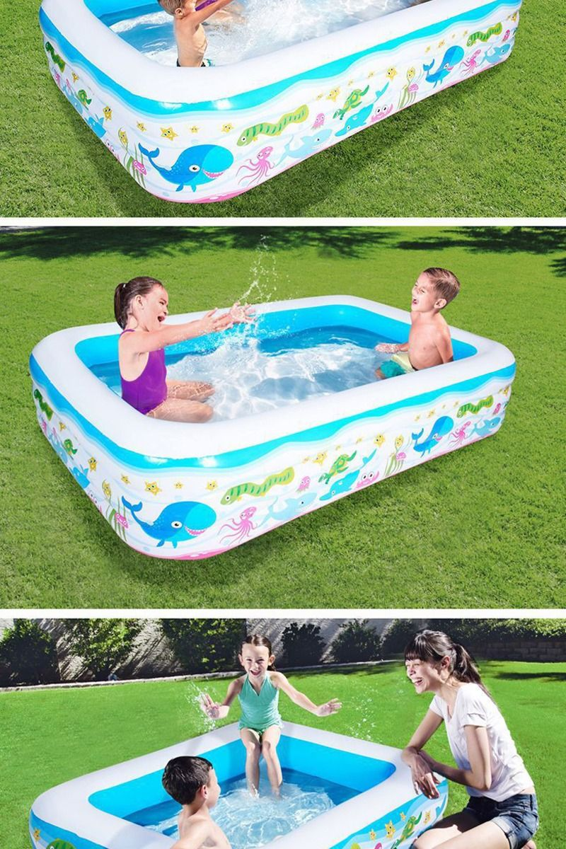 Inflatable Square Swimming Pool For Kids High Quality Children S Home Use Paddling Pool Large Size Kid Pool Swimming Pools Kids House