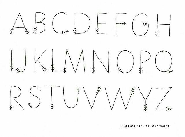 Discover Ideas About Arrow Font Cute Alphabet Letters