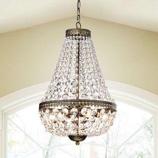 Symmetric 6 light antique copper chandelier beaded chandeliers symmetric 6 light antique copper chandelier aloadofball Gallery