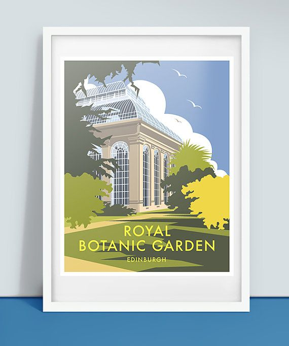 Royal Botanic Garden Edinburgh, Travel Poster Print