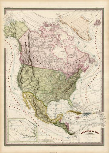 A spectacularly colored large scale Dufour map of Central ...