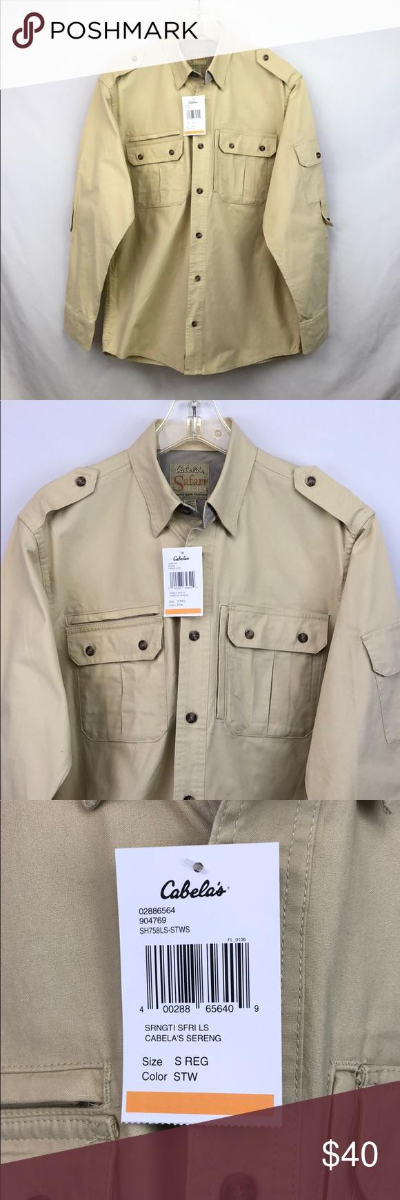Cabela S Men S Serengeti Safari Shirt Small Nwt Size Small New With Tags Cabela S Shirts Casual Button Dow Safari Shirt Casual Shirts For Men Casual Shirts