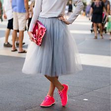 4 Layers 70cm Tea Length Tulle Skirt Tutu Skirt Princess Skirt Wedding Skirts