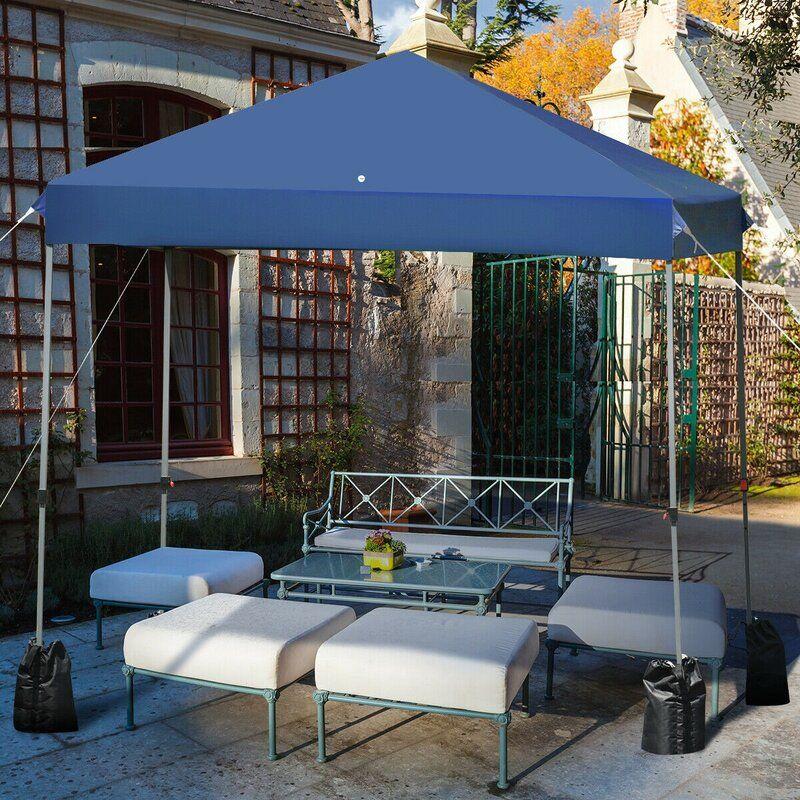 Outdoor 8 Ft. W x 8 Ft. D Steel Popup Canopy in 2020