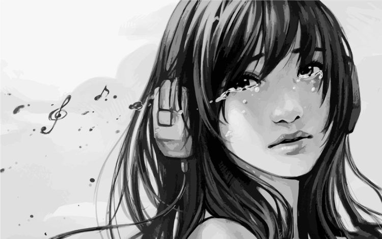 Sad Anime Girl Crying Pictures -Depressed Anime Girl
