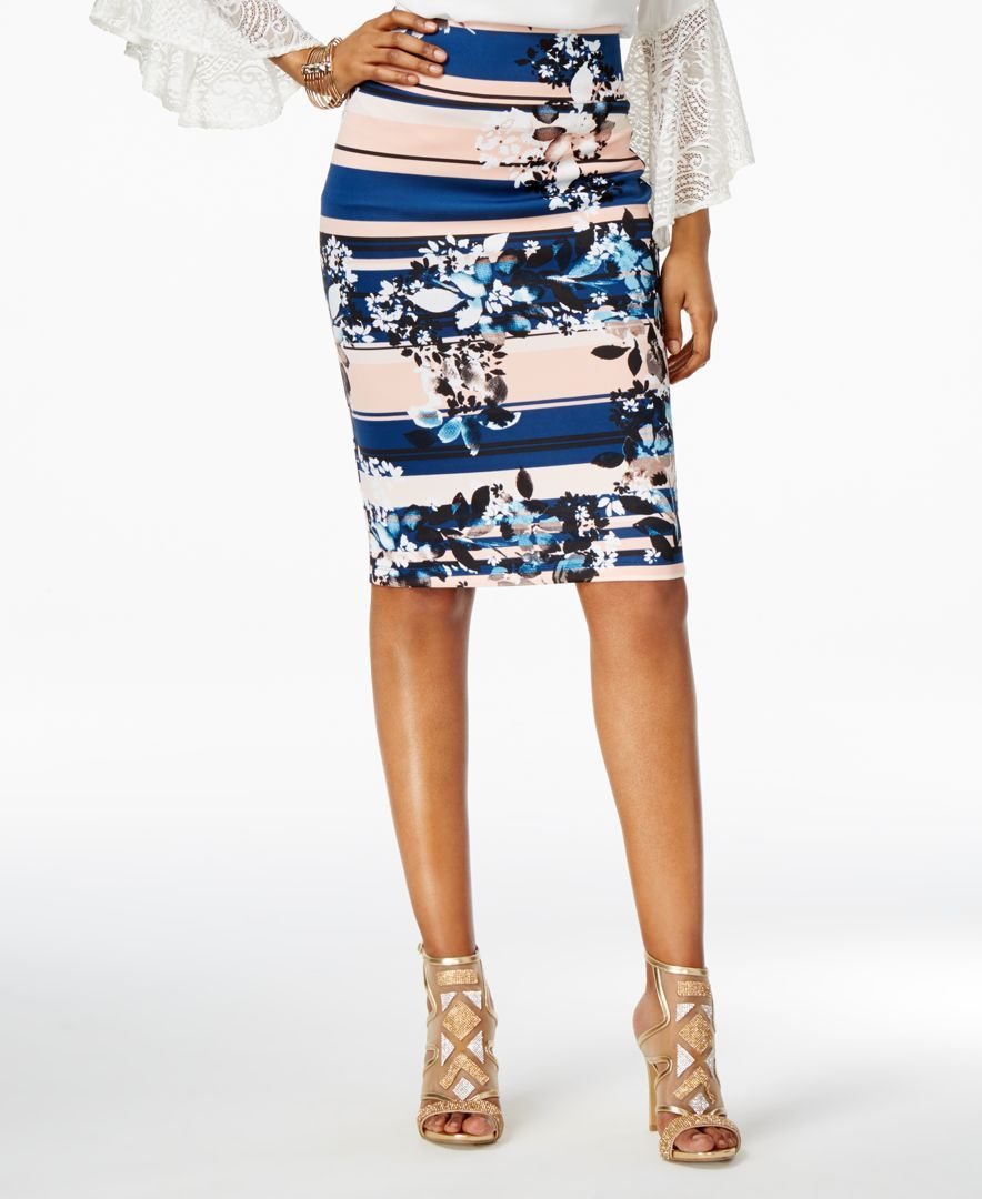 f0ef544b7 Thalia Sodi Printed Scuba Pencil Skirt, Only at Macy's | Products ...