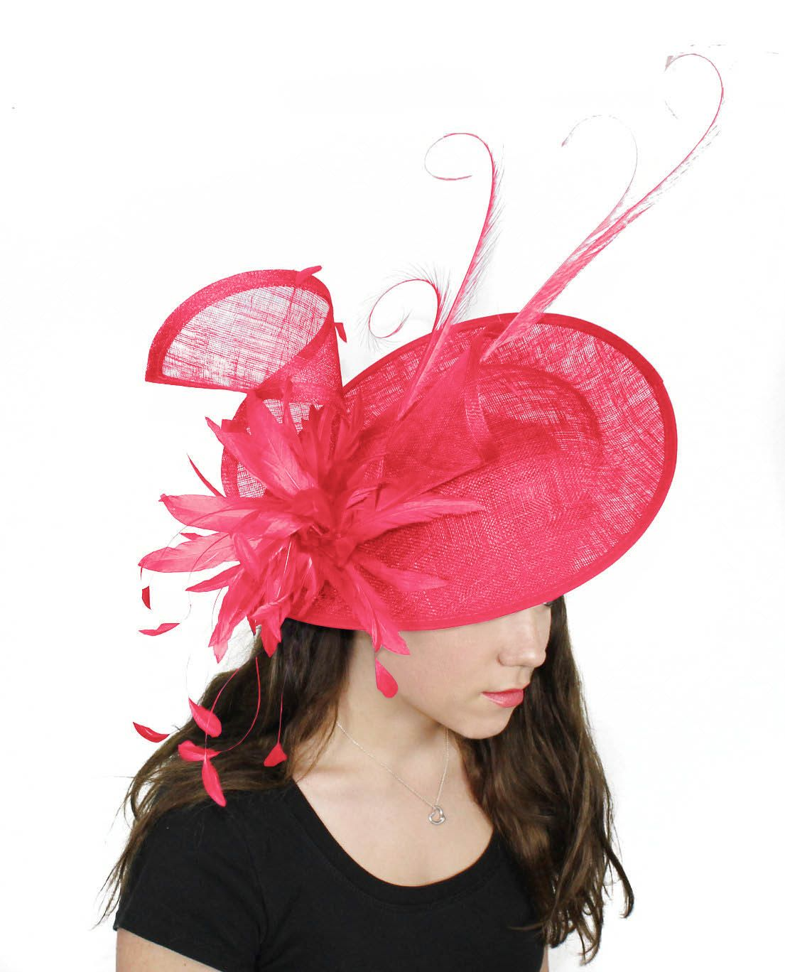 Adonis Fuchsia Fascinator Hat for Weddings Races by Hatsbycressida dc8b0971449