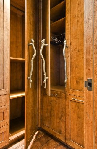 Fun Handles Log Home Decorating Rustic Closet Closet Storage Design