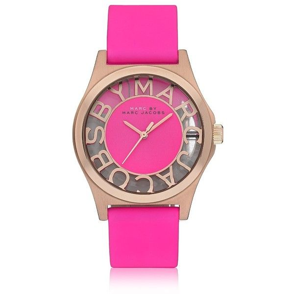Marc by Marc Jacobs Henry Skeleton Watch ($280) ❤ liked on Polyvore