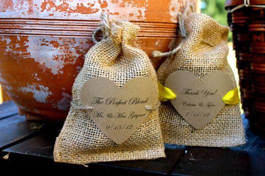 DIY Coffee Burlap Wedding Favor MadamPaloozaEmporium Facebook