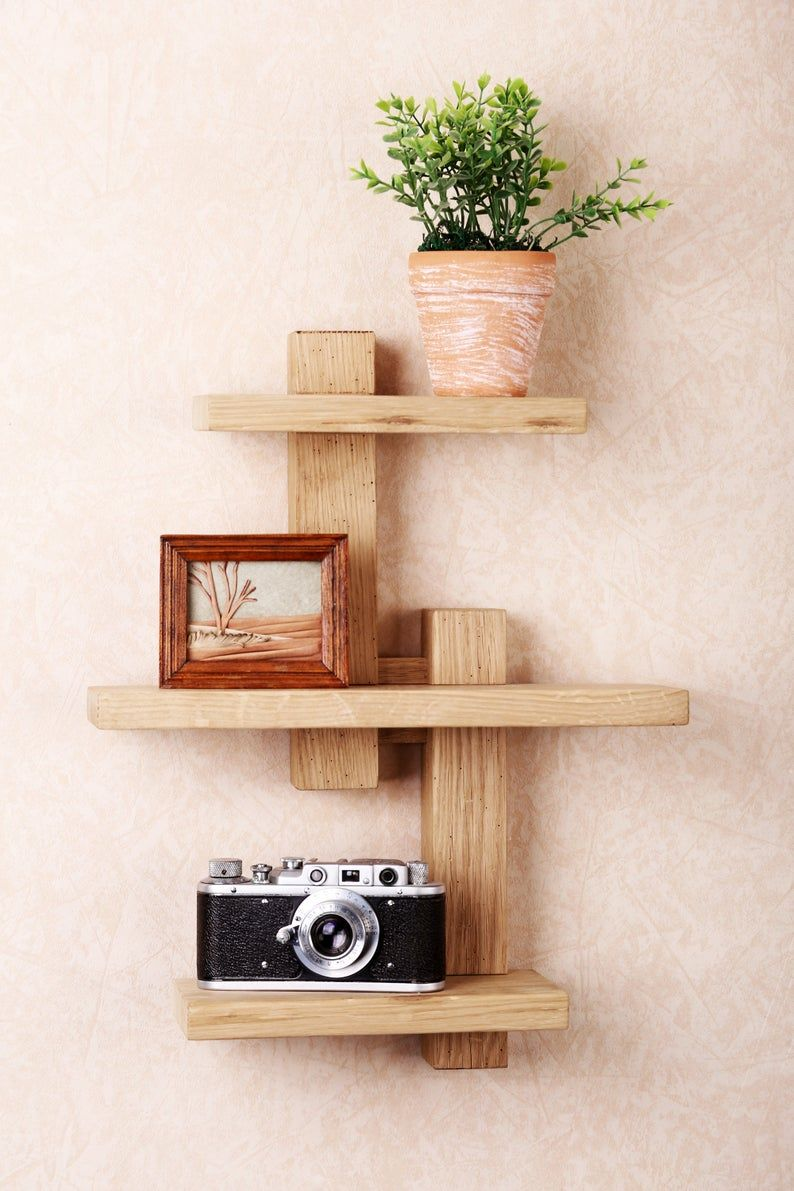 Wall Shelf Shifting Adjustable Shelf Solid Wood Shelf Etsy 2021 ウォールシェルフ ウッドシェルフ モダンシェルフ