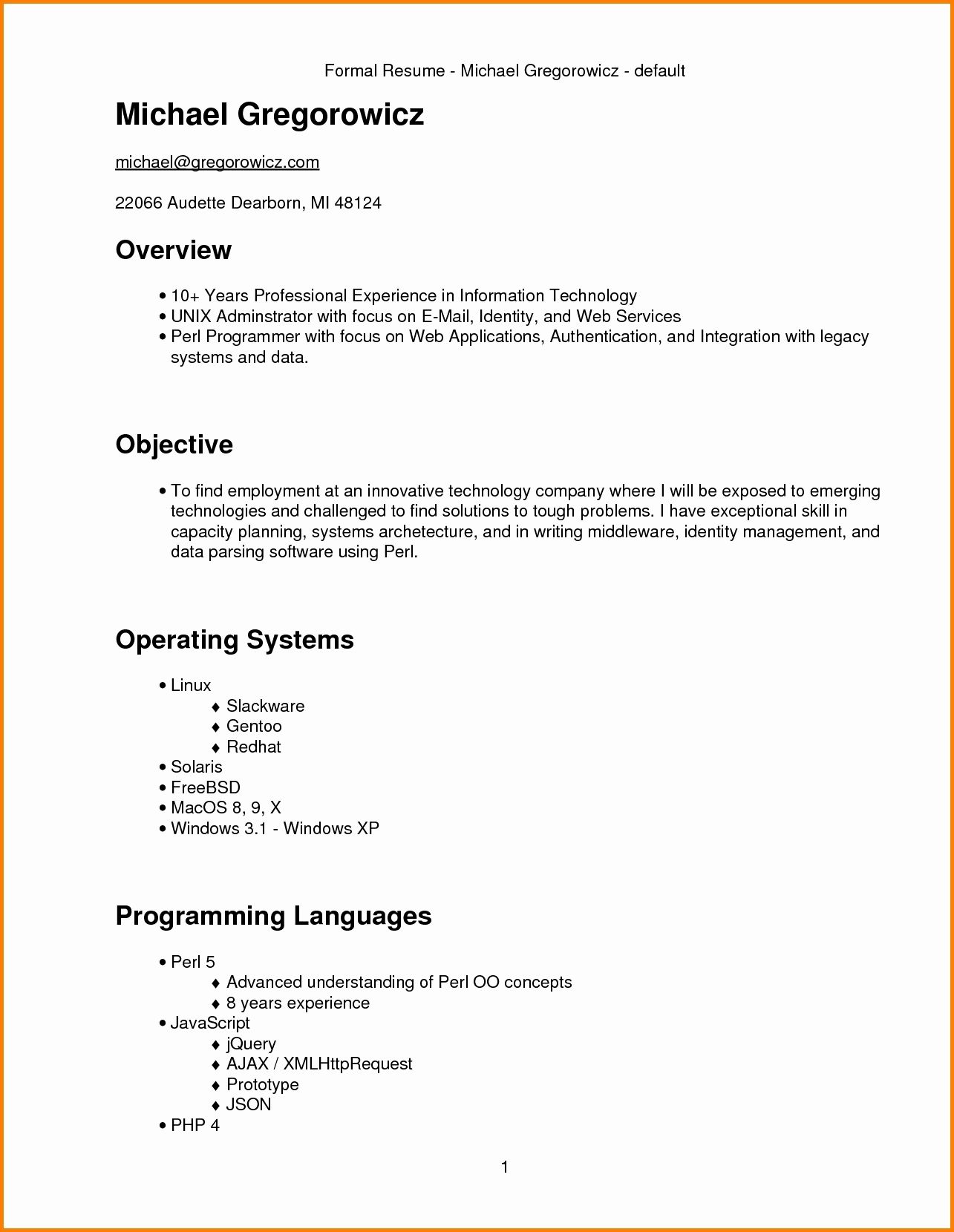 Resume Format 3 Years Experience Marketing | Resume Format ...