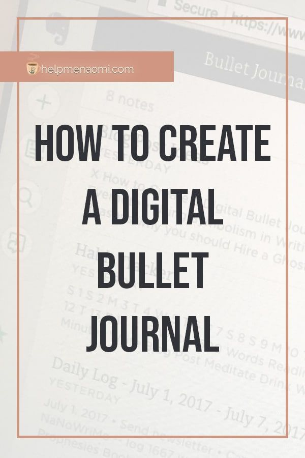 How to Create a Digital Bullet Journal with Evernote | Help Me, Naomi