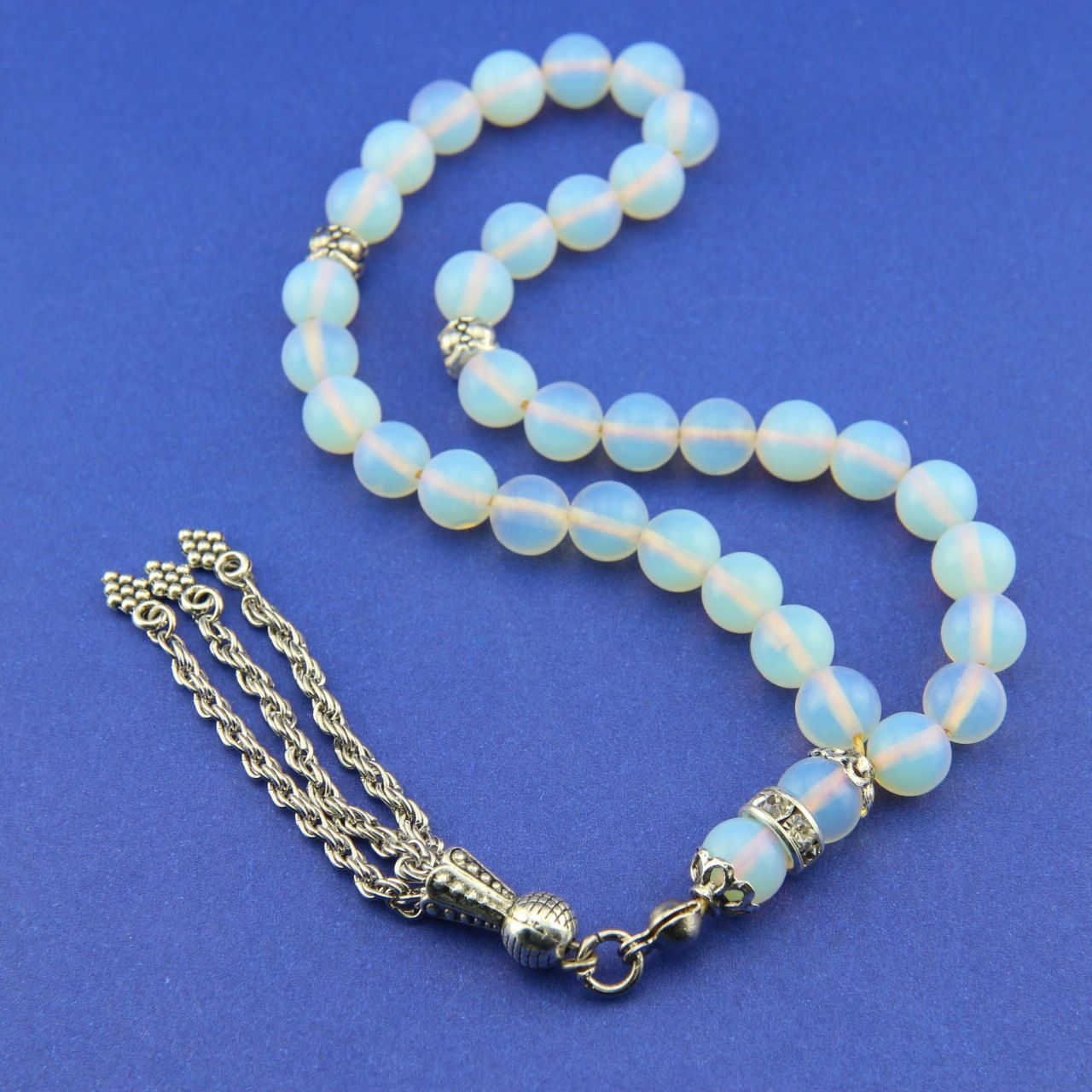 Opal gemstone 33pcs Islamic Prayer Beads Misbaha Tesbih from Turkey 165806 by Tesbih on Etsy