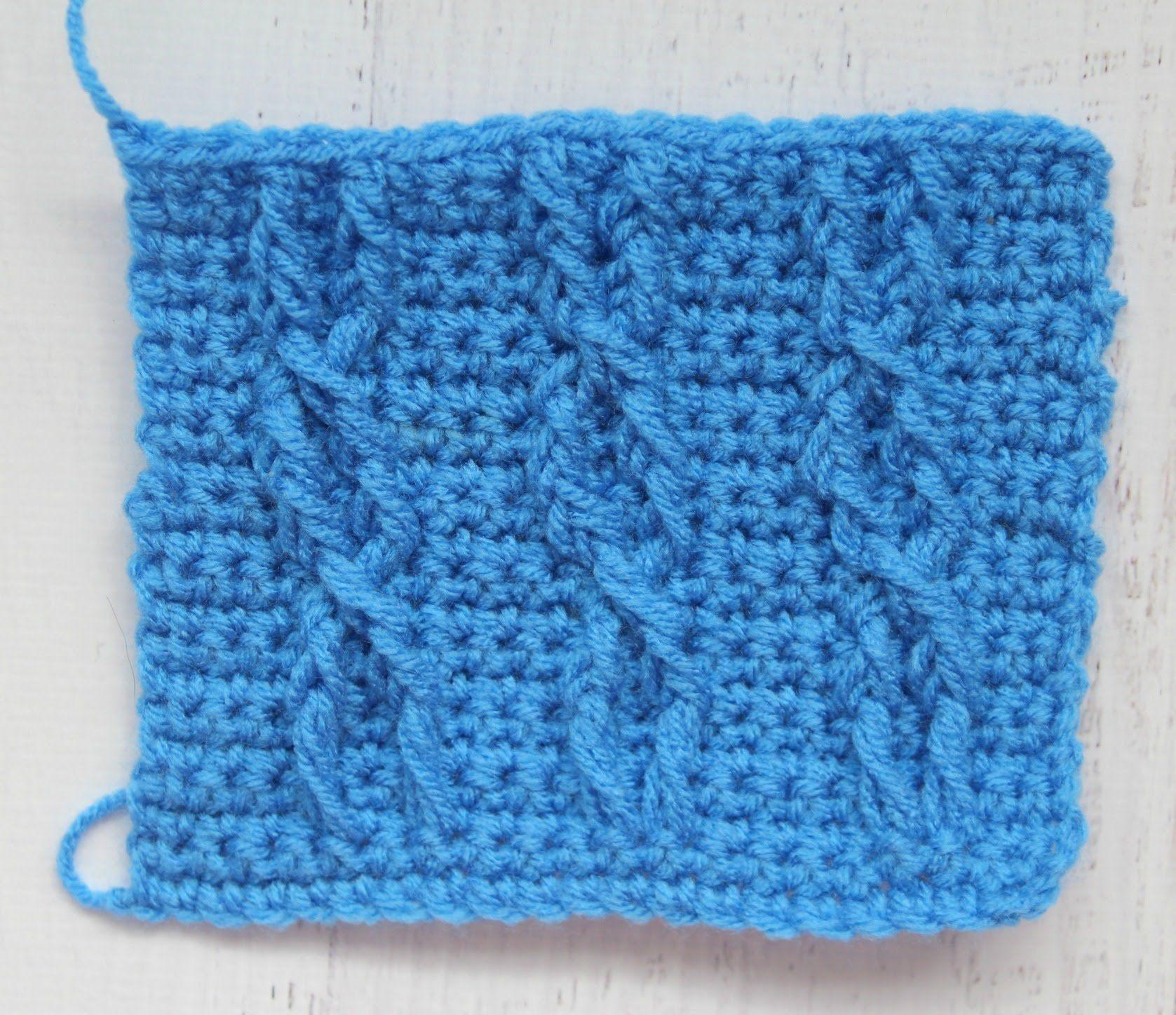 Como tejer cables en crochet | crochet artistique virka konstnärliga ...