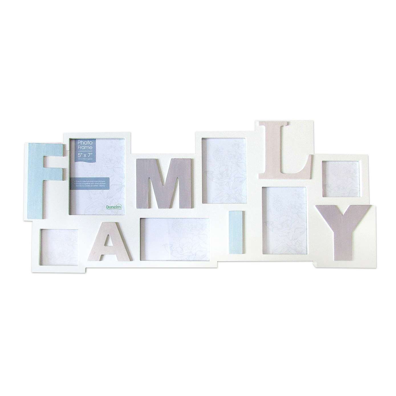 Cream Family Collage Photo Frame - Dunelm