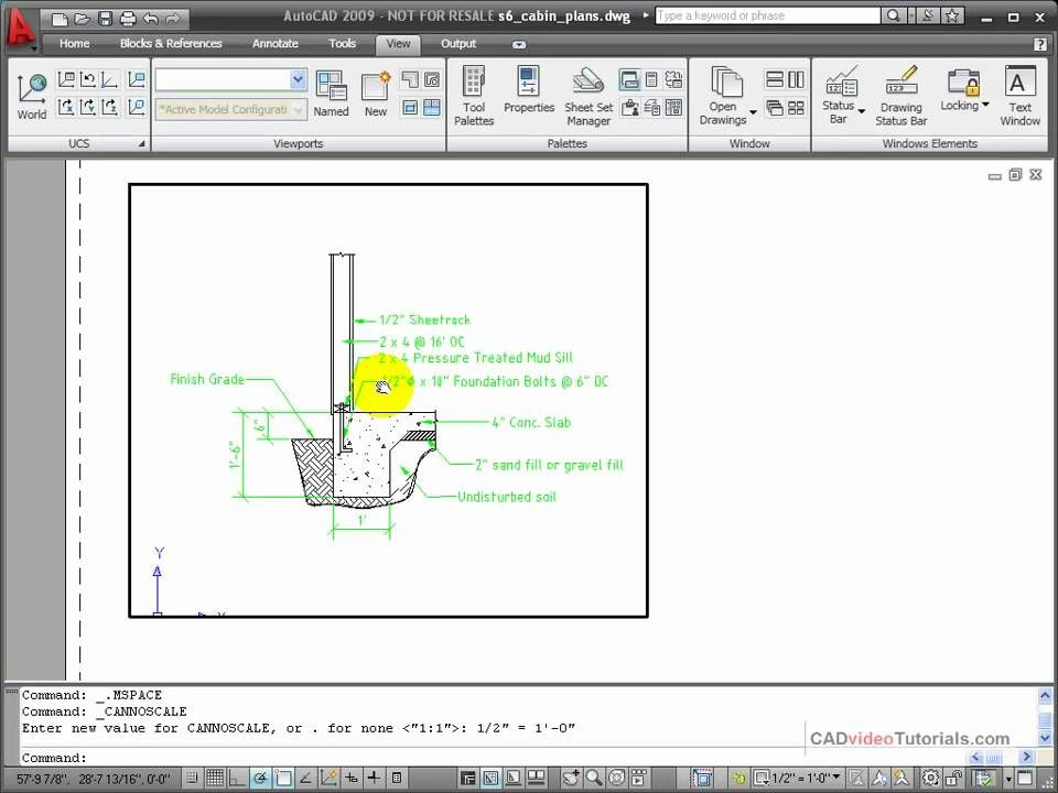 AutoCAD Tutorial Creating a New Viewport Autocad