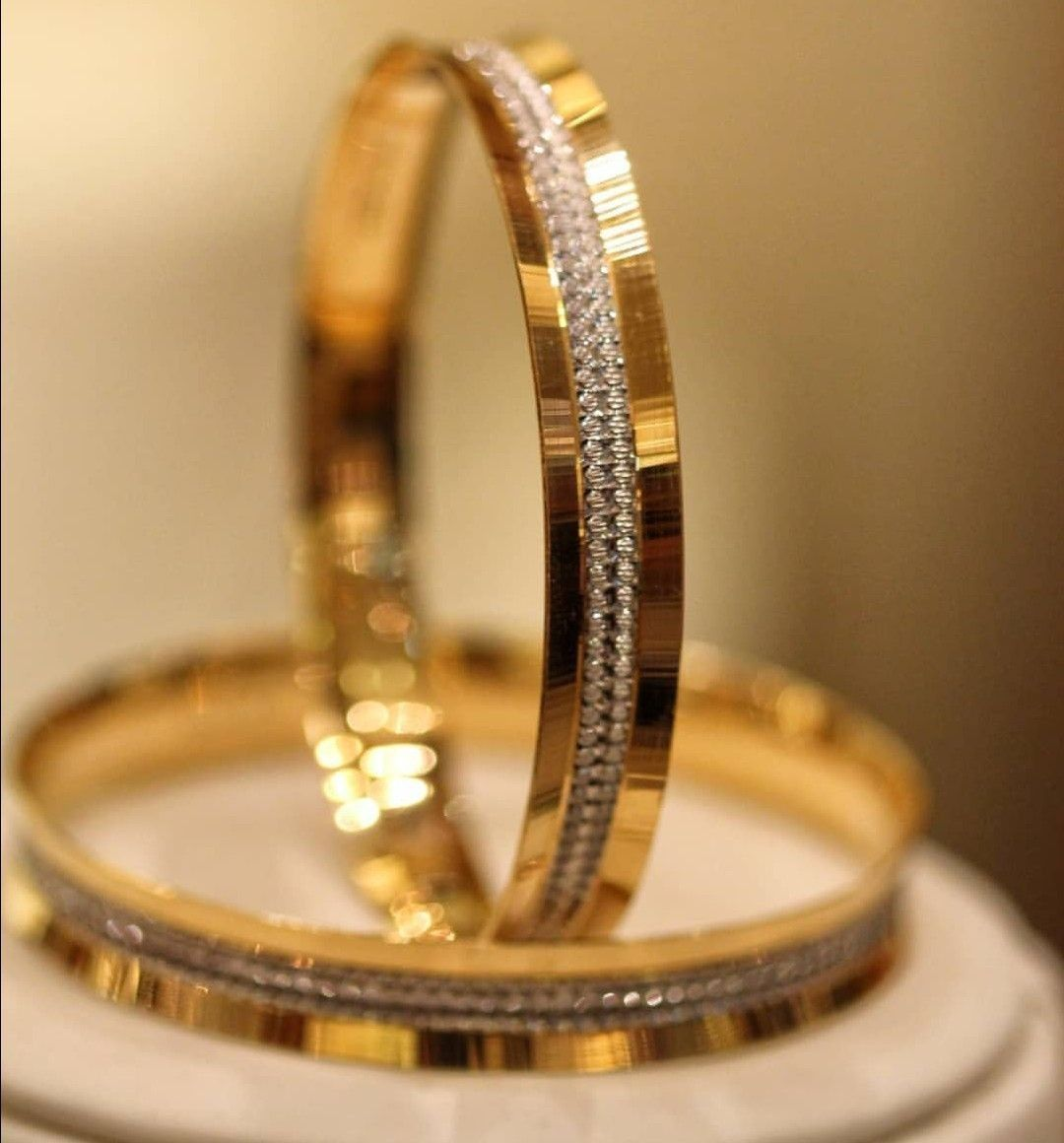 Pin By Harshitha On Jewelry Plain Gold Bangles Mens Gold Bracelets Simple Silver Jewelry