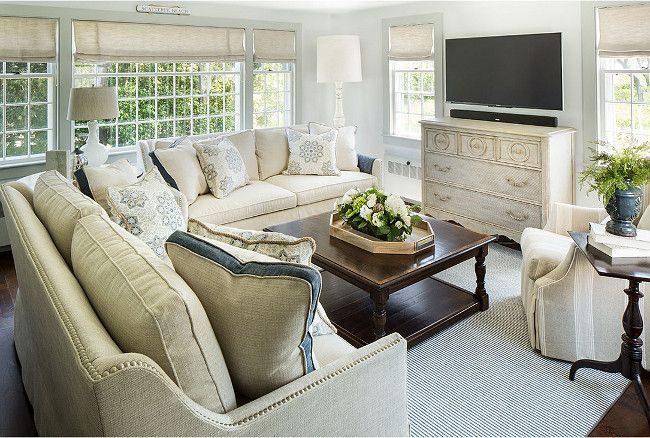 Find this Pin and more on Home Bunch Interiors Blog Living room without fireplace furniture